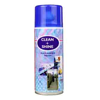 Aerosol Solutions - 0303 - Clean & Shine 400ml Multi-Surface Polish Aerosol