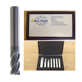 M.A. Ford 277B 3-12mm 7pce Coated Solid Carbide End Mill Kit