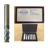 M.A. Ford 277R 3-12mm 7pce Coated Solid Carbide End Mill with 0.25 Radius Kit